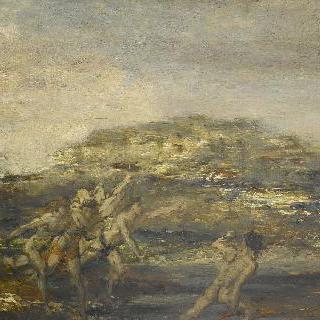 시라소니를 사냥하는 그리스 청년들