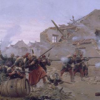 어느 마을 거리에서 벌어진 전투