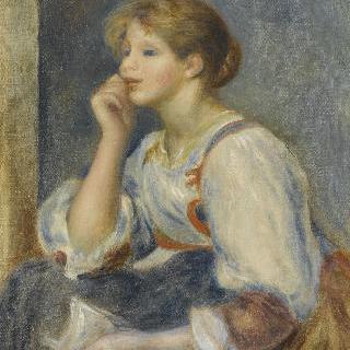 편지를 들고 있는 여인