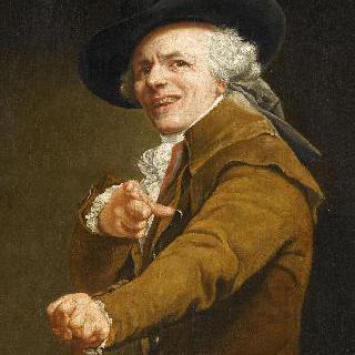 비웃는 듯한 표정을 짓는 화가의 초상