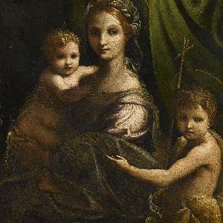 세례 요한과 함께 있는 성모와 아기 예수