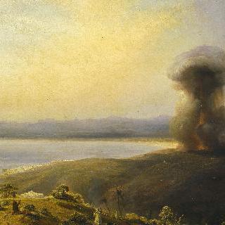 알제리에 위치한 황제 요새의 폭발