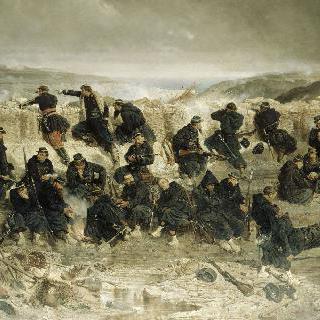 세바스토폴의 점령, 맘롱 베르의 참호의 나폴레옹 근위대의 보병들