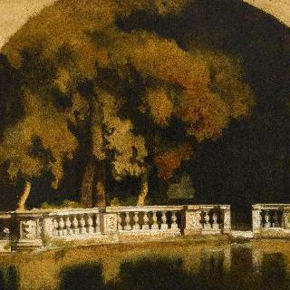 빌라 메디치 내 연못 가 테라스