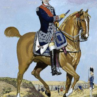 프랑스 근위대 복장을 입은 비롱 공작