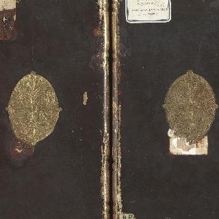 왼쪽 면: 세례요한, 오른쪽 면 : 성 모자상 (단색 이폭화 뒷면)