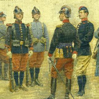 프랑스 군대의 새로운 군복을 위한 디자인