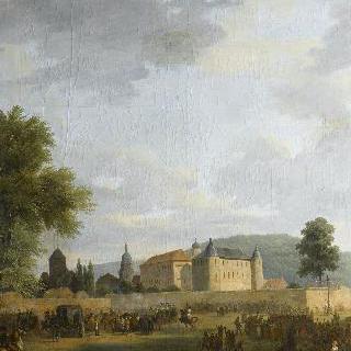 에틀링겐에서 나폴레옹 1세를 맞이하는 샤를 프레데릭 왕자
