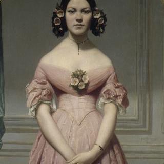 화가의 조카이자 테오도르 샤세리오의 딸 이소르 샤세리오의 초상