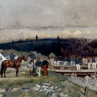 생 제르맹-앙-레에서 목욕하는 부대