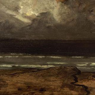 브르타뉴 바다의 폭풍우