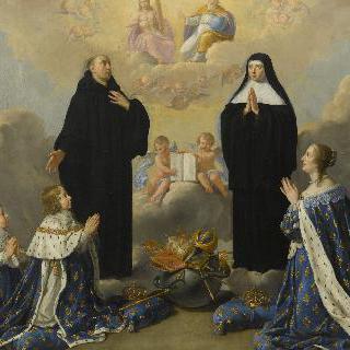 안 도트리슈 왕비와 그녀의 아이들, 루이 14세와 앙주의 공작 필립