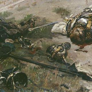 폰 브레도브 여단의 프러시아 흉갑기병과 창기병의 주검