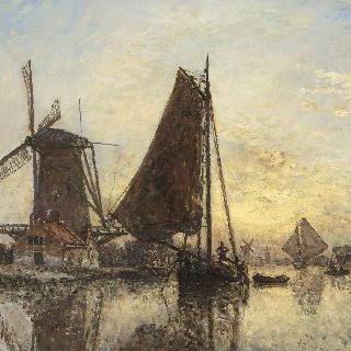 네덜란드에서, 풍차 옆의 나룻배