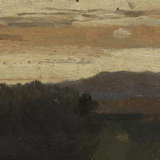 석양이 지는 이탈리아의 풍경