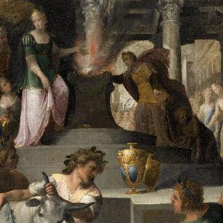 비너스에게 제물을 받치는 이앙트와 클리멘