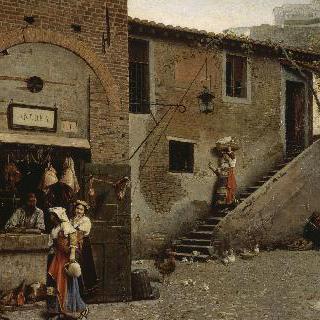로마 트란스테베레의 정육점