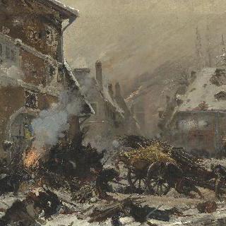 비에르젝셀 지방 적들의 요새를 습격하는 레스트 부대