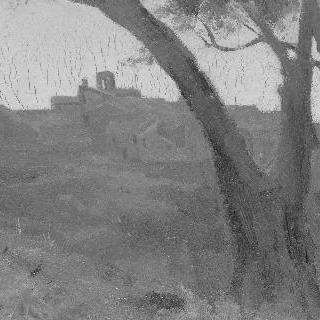 석양이 지는 이탈리아의 마을 풍경