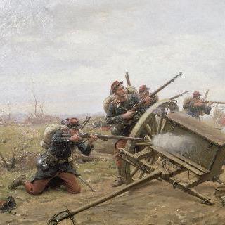 1870년 대로에서 벌어지는 보병대의 싸움