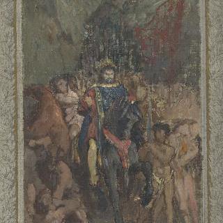 파리를 행진하는 아틸라의 초벌화