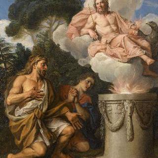 제우스에게 제물을 바치는 헤라클레스
