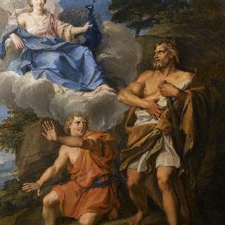 헤라클레스에게 나타난 구름  위의 주노