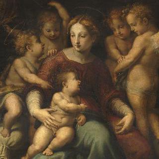 성모, 아기 예수, 성요한과 세명의 천사