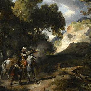 퐁텐블로 숲의 앙리 4세와 육군대장 미쇼