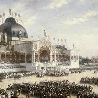 대공의 군기 수여. 1852년 5월 10일 샹 드 마르스