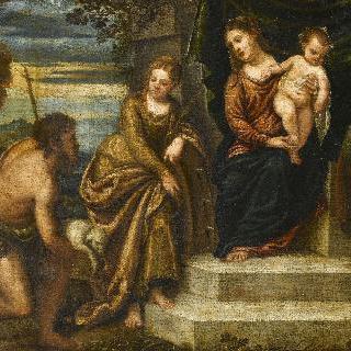 아기 예수를 안은 성모마리아와 세례자 요한