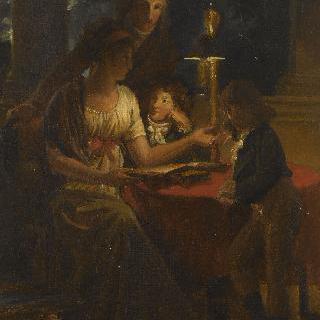 식탁에 둘러앉은 금세공자 앙리 오귀스트의 가족