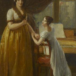 마리 르네 쇼팽 다르누빌, 모렐 드 벵데 자작부인과 그녀의 딸 클레르