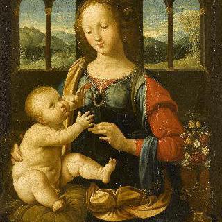 성모와 아기 예수(레오나르도 다빈치 작품의 모사)