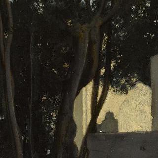 빌라 메디치의 정원, 로마, 월계수가 있는 샘