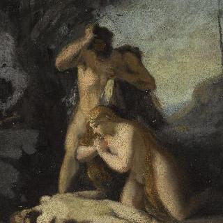 아벨의 시신을 찾은 아담과 이브