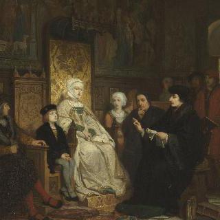 에라스무스의 책을 읽고 있는 유년 시절의 샤를 퀸트