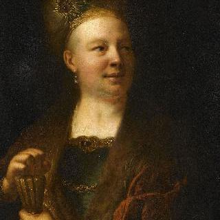 동양식 옷을 입은 남자의 초상