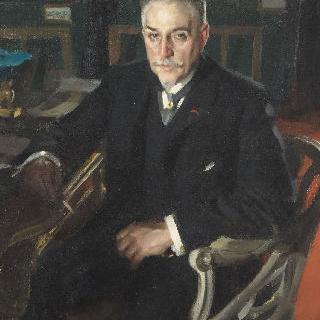 고급 가구 세공인이자 수집가인 알프레드 뵈들레 (1847-1919)의 초상