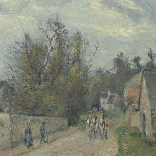 퐁투아즈, 에르미타주의 에느리 거리의 역마차