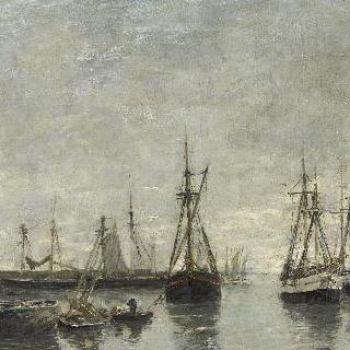 항구에 정박하는 배들