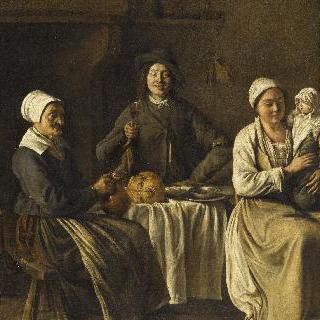 행복한 가족 (세례 후의 귀가)