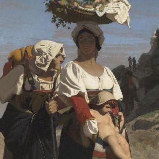 두 이탈리아 아낙네들과 아이
