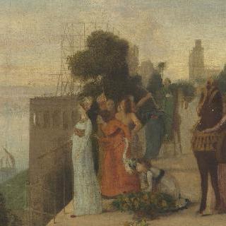 바빌론을 건설하는 세미라미스  (앗시리아의 여왕)