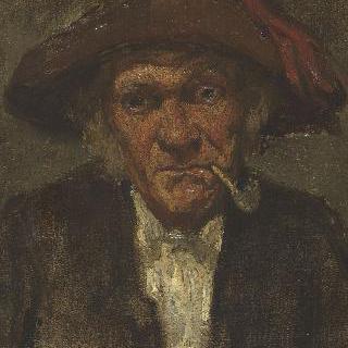담배물고 있는 남자