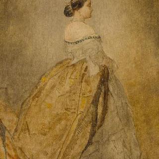 황실 왕자의 세례식을 위한 습작 : 마틸드 공주