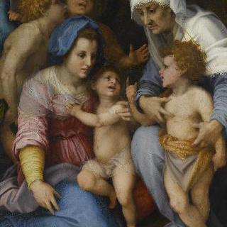 천사와 함께 있는 성 가족