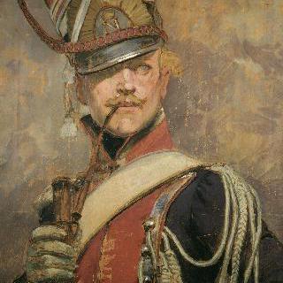 나폴레옹 근위대의 폴란드 제 1의 경기대의 장교