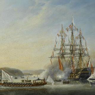 1814년 8월 6일 오를레앙 공작과 그의 가족들의 마르세유 정박