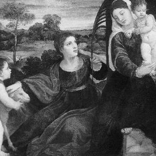 세례 요한과 성녀 아그네스와 함께 있는 성 모자